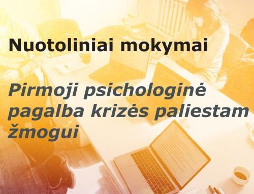 Lietuvos Raudonojo Kryžiaus draugijos nuotoliniai mokymai