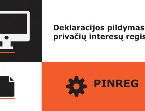 Privačių interesų deklaracijos pildymas privačių interesų registre (PINREG)