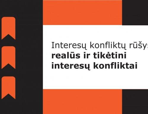 Interesų konfliktų rūšys: realūs ir tikėtini interesų konfliktai